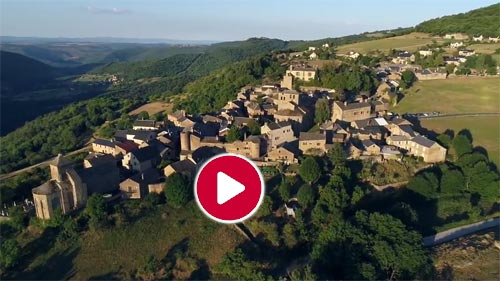 Castelnau-Pégayrols vu du ciel